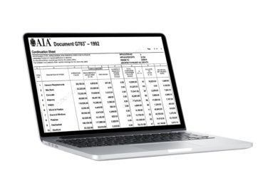 AIA Billing Report Example